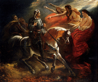 Scheffer Ary Macbeth Et Les Sorcieres