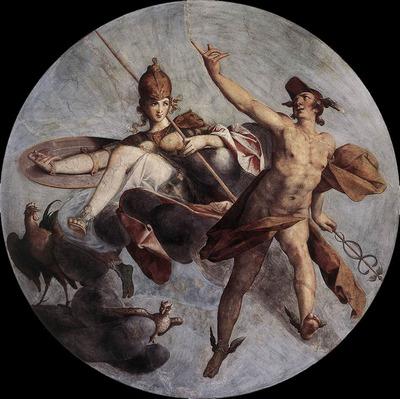 SPRANGER Bartholomaeus Hermes And Athena