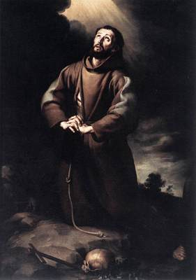 Murillo St Francis of Assisi at Prayer