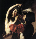 MANFREDI Bartolomeo Bacchus and a Drinker