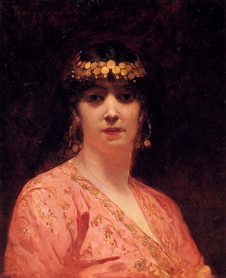 Constant Benjamin Portrait Of An Arab Woman