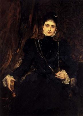 Constant Jean Joseph Benjamin Portrait Of Mme M S Derviz