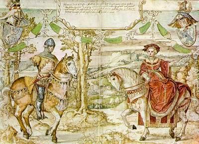 ORLEY Bernaert van Count Henry I Of Nassau With His Bride