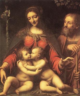 LUINI Bernardino Holy Family With The Infant St John