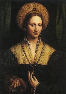 luini bernardino portrait of a lady