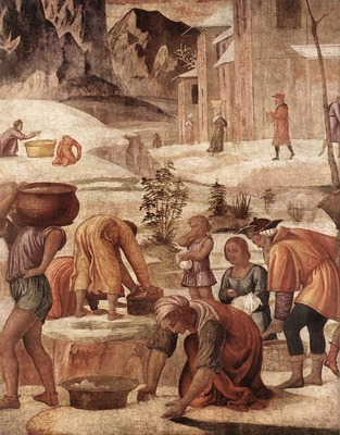 LUINI Bernardino The Gathering Of The Manna