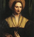 luini bernardino portrait of a lady