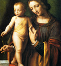 Luini Bernardino The Virgin And Child With A Columbine