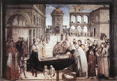 PINTURICCHIO Death Of St Bernadine