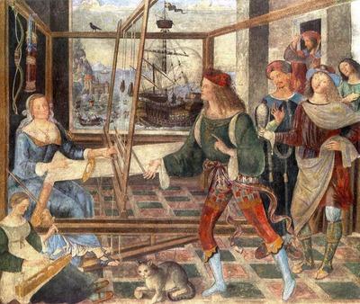 PINTURICCHIO The Return Of Odysseus