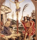 PINTURICCHIO The Crucifixion With Sts Jerome And Christopher