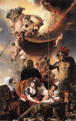 EVERDINGEN Caesar van Allegory Of The Birth Of Frederik Hendrik