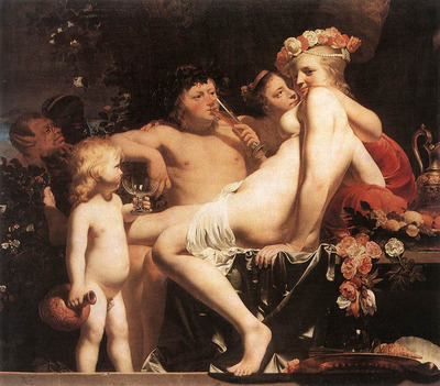 EVERDINGEN Caesar van Bacchus with Two Nymphs And Cupid