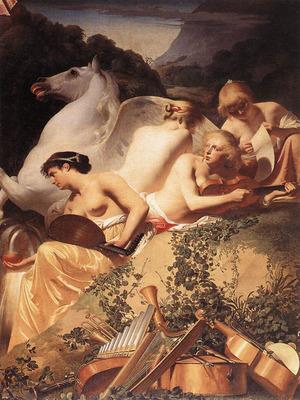 EVERDINGEN Caesar van The Four Muses With Pegasus