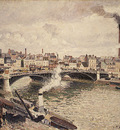 pissarro morning an overcast day rouen