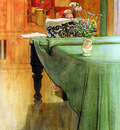 carl larsson brita vid pianot brita at the piano