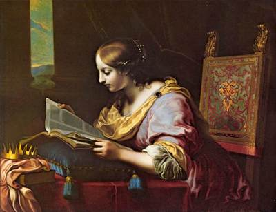St Catherine Reading a Book wga