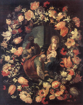 MARATTI Carlo Adoration of the Magi in Garland