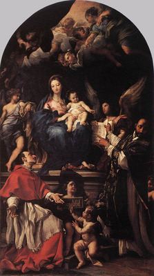 MARATTI Carlo Madonna and Child Enthroned with Angels and Saints