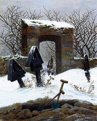 FRIEDRICH Caspar David Graveyard Under Snow