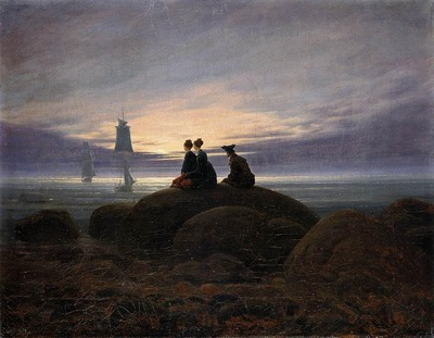friedrich caspar david moonrise by the sea