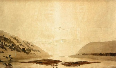FRIEDRICH Caspar David Mountainous River Landscape Day Version