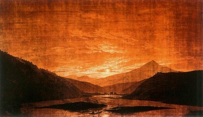 FRIEDRICH Caspar David Mountainous River Landscape
