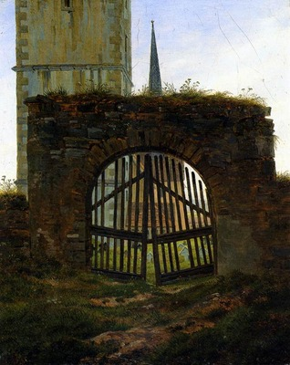 FRIEDRICH Caspar David The Cemetery Gate