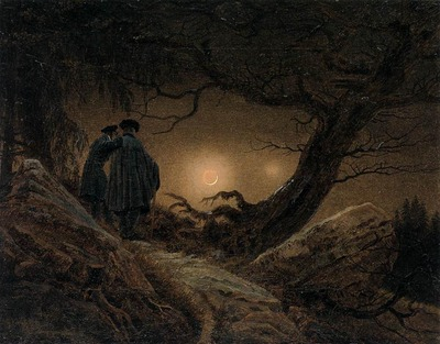 FRIEDRICH Caspar David Two Men Contemplating The Moon