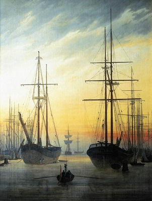 FRIEDRICH Caspar David View Of A Harbour