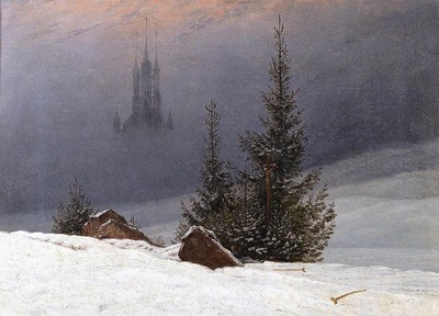 FRIEDRICH Caspar David Winter Landscape With Church