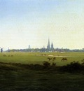 FRIEDRICH Caspar David Meadows Near Greifswald