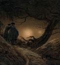 FRIEDRICH Caspar David Two Men Contemplating The Moon