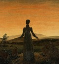 FRIEDRICH Caspar David Woman Before The Rising Sun