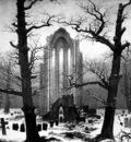 Monastery Graveyard in the Snow CDF