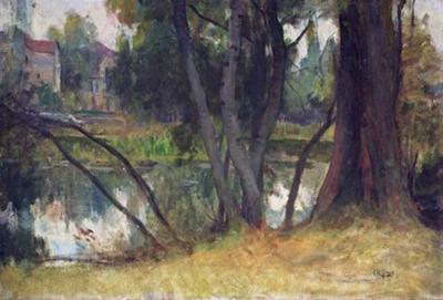 Lenoir Charles Paysage pres de sa maison de Fouras