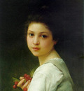 Lenoir Charles Amable Portrait of a young girl with cherries