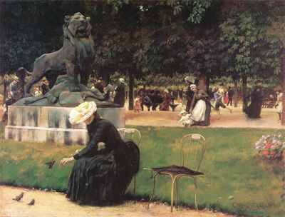 curran charles courtney in the luxembourg garden