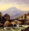 Kuwasseg Jr Charles Euphrasie An Alpine Village