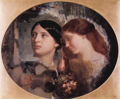 Gleyre Charles Zwei Frauen mit Blumenstrauss