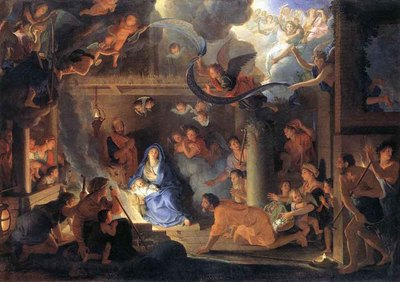 LE BRUN Charles Adoration Of The Shepherds