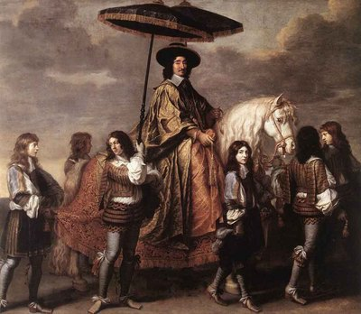le brun charles chancellor seguier at the entry of louis xiv into paris in