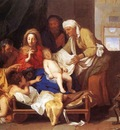 LE BRUN Charles Holy Family With The Adoration Of The Child