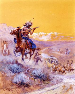 Russell Charles Marion Indian Attack