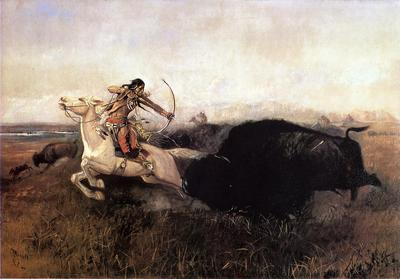 Russell Charles Marion Indians Hunting Buffalo