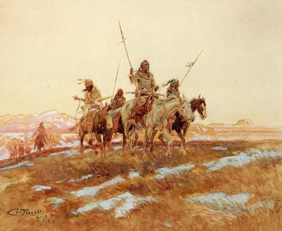 Russell Charles Marion Piegan Hunting Party
