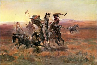 Russell Charles Marion When Blackfeet and Sioux Meet