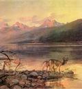 Russell Charles Marion Deer at Lake McDonald