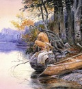 Russell Charles Marion Indian Camp Lake McDonald
