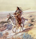 Russell Charles Marion Indian with Spear